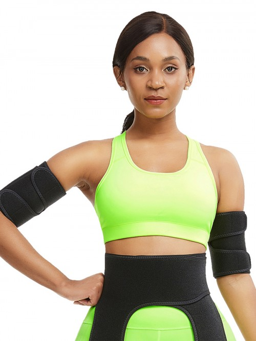 Slender Black 2 Pieces Repel Sweat Arm Shaper Neoprene Figure Sculpting