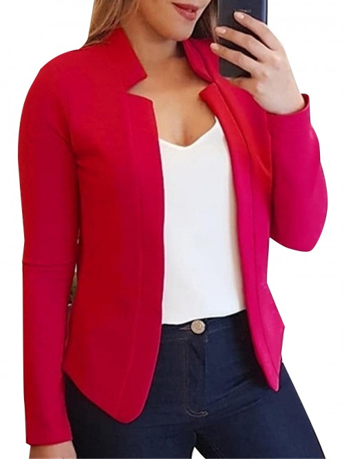 Mystic Red No Button Full Sleeve Big Size Jacket Fashion Shop Online