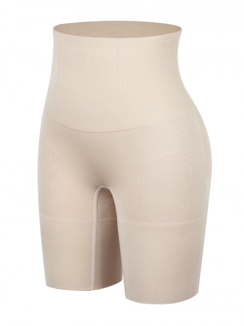 Nude Seamless Plus Size Tummy Control Shorts Curve Smoothing