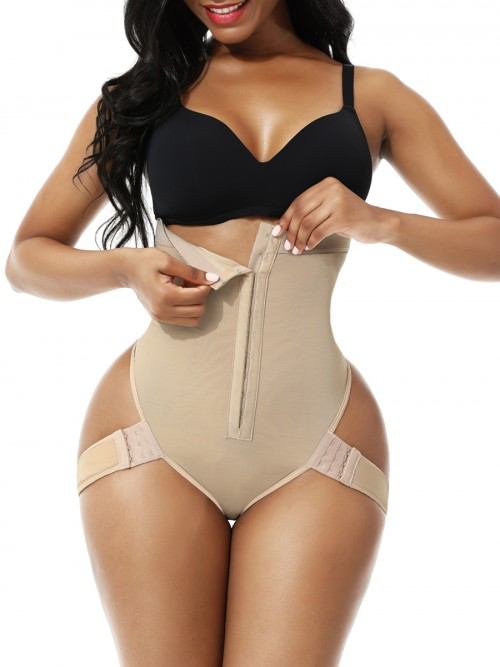 Nude 2 Bones Hook High Waist Shapewear Thong Curve-Creating