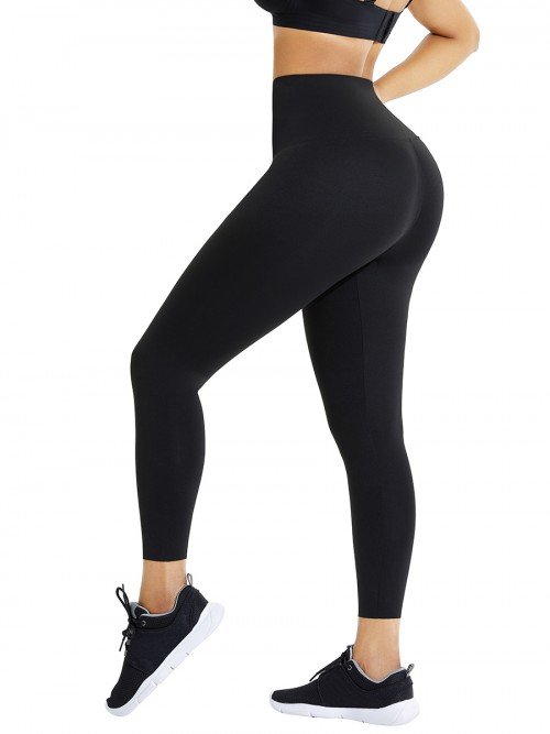 Black High Waist Pant Shaper Full Length Potential Reduction