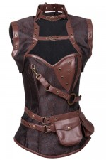 Stylish Brocade Vintage Steampunk Corset