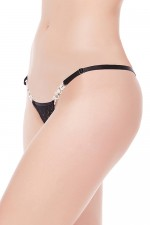 Black Lace G-String Panty For Woman