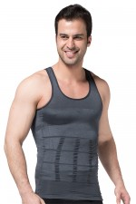 Ultimate Fit Grey Vest Mens Body Shaper Slimming Undershirt