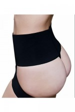 Black Crisscross High Waist Open Bottom Butt Lifter