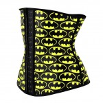 Comfort Devotion Latex Batman Print 4 Bones Gym Cincher
