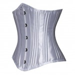 24 Double Steel Boned Underbust Corset Heavy Duty Waist Training Shaper With Panel