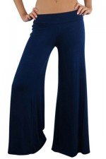 Classic Blue Casual Palazzo Pants
