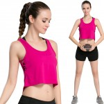 Sassy Moisture Whicking Rose Athletic Tank Tops