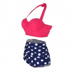 Glamorous Retro Bikini High Waist Two Pieces Set