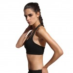 Intensive Black Double Lined T Back Sports Bra