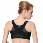 Black Top Women Running Gym Padded Top Bra