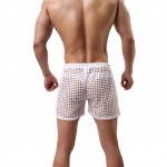 Intricate White Hollow Out Boxers Underwear