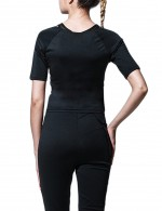 Black Ultra Tummy Shaping Tops Sticker Closure Breathable