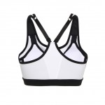 Stretching Underwire White Fitness Brassiere Racer Back