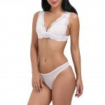 Tempting White Wireless Seamless Panty Push Up Bra Set