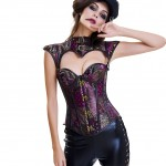 Lace-Up Metal Clasps Front Corset 16 Plastic Bones