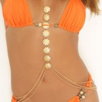 Fitness Gold Necklace Body Chains Crossover Belly Waist High Quality