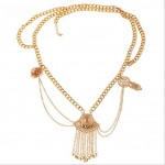Fiery Gold Bohemian Coins Waist Belly Belt Tassel Body Ultra Hot