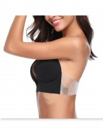 Girls Black U Style Silicone Invisible Bra Standard Fit Strapless