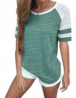 Modern Green O Neck Short Sleeves Large Shirt Quick Drying