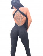 Fabulous Black Hollow Out Jumpsuits Open Back Tailored Quality