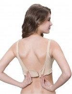 3 Pcs Open Front Nursing Bra With Pads Skinny Figure