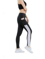 Eye Catching Color Block Yoga Pants Full Length For Runner