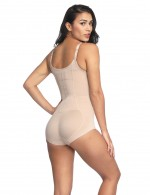 Nude Bodyshort Shapewear Adjustable Crotch Hooks Figure Slimmer