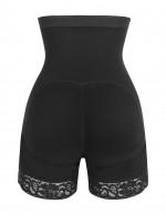 Black Anti-Curl Material Distinctive Look Shapewear Butt Enhancer