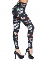 Sparkling Printing Brushed Leggings Ankle Length Cool Fashion