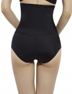 Waist Control Black High Waisted Booty Lifter Crossover Leisure Fashion