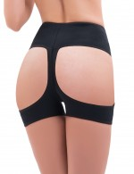 Thermo Heating Black Plus Open Butt Lift Panty Boyshort Enhancer