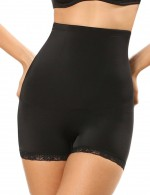 Chic Black Lace Double-Layered Mesh Lining Booty Enhancer Curve Slimmer