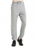 Outdoor Light Gray Ankle-Banded Pants Comfort Fashion Drawstring Cotton