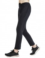 Scintillating Black Cotton Jogger Straight-Leg Slacks Soft With Pocket