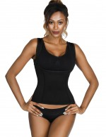 Superfit Everyday Black Sticker Neoprene Shaper Vest Plus Size Magicwear