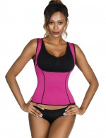 Bandage Rose Red Sticker Closure Plus Size Neoprene Shaper