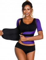 Enthralling Purple Big Size Push Up Neoprene Shaper Superfit Everyday