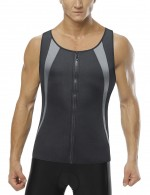 Lightweight Black Plus Size Zip Vest Neoprene Shaper Enhancer