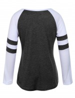 Big Size Long Sleeves Black Tops Round Neck Superior Quality
