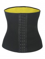 Well-Suited Black Plus Size Neoprene Waist Shaper Hooks Blood Circulation Boosting