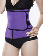 Basic Shaping Purple Queen Size Zipper Waist Neoprene Trainer Supper Fashion