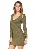 Colorful Army Green Bodycon Criss Cross Dress Short Length