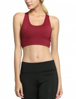 Wine Red Essential Racerback Running Bra For Playing