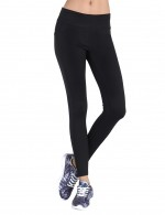 Black Elegant Mid Waist Yoga Pants Aerobic Activities