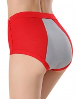 Red Bandage Large Bamboo Menstrual Panties Ladies