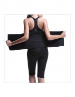 Queen Size Neoprene Black Workout Waist Trimmer Curve Smoothing