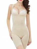 Perfect-Fit Breast Support Nude Bodysuit Boyshort Cut