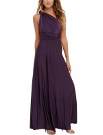 Absorbing Dark Purple Affordable Formal Dresses High Waist